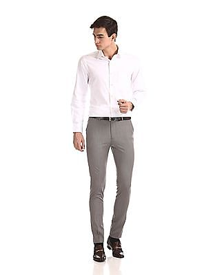 Arrow Newyork Super Slim Fit Solid Trousers