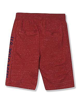 U.S. Polo Assn. Kids Boys Slim Fit Heathered Shorts