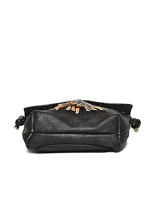 SUGR Cutwork Tasseled Sling Bag
