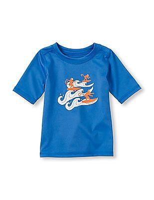 The Children's Place Toddler Boy Short Sleeve Rashguard T-Shirt