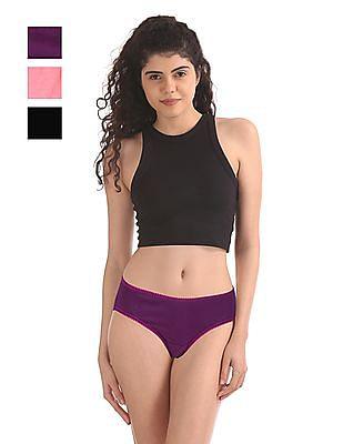 SUGR Assorted Bikini Panties - Pack Of 3