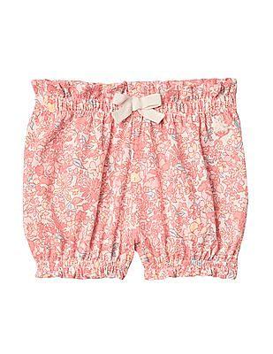 GAP Baby Pink Print Bubble Shorts