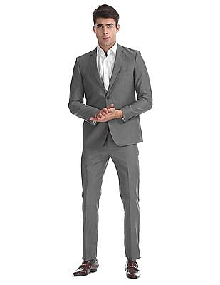 Arrow Grey Body Tailored Regular Fit Patterned Check Suit