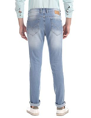 Flying Machine Blue Jackson Skinny Fit Distressed Jeans