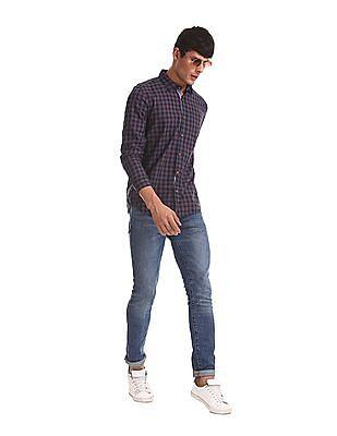 Ruggers Grey Regular Fit Check Shirt