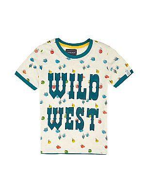 Cherokee Boys Printed Cotton T-Shirt