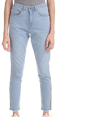 U.S. Polo Assn. Women Blue Super Skinny Fit High Waist Jeans