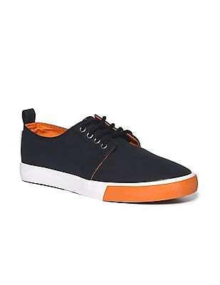 Flying Machine Perforated Accent Colour Block Sneakers