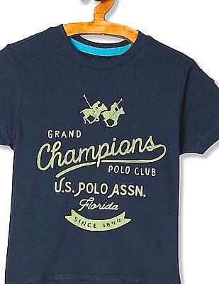 U.S. Polo Assn. Kids Boys Standard Fit Appliqued T-Shirt