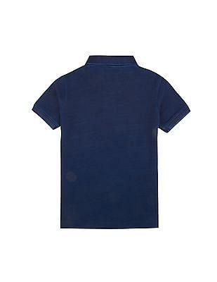 U.S. Polo Assn. Kids Boys Dyed Pique Polo Shirt