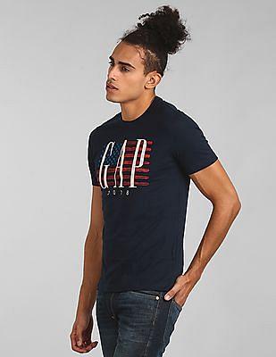 GAP Logo Flag Print Short Sleeve T-Shirt