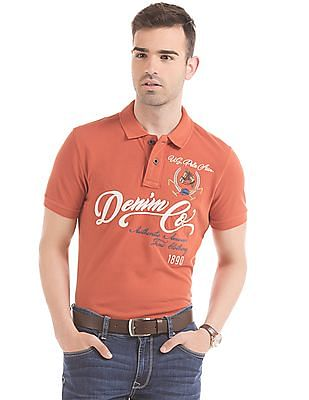 U.S. Polo Assn. Denim Co. Embroidered Muscle Fit Polo Shirt