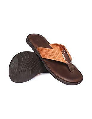 U.S. Polo Assn. V Strap Colour Block Sandals