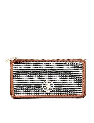 U.S. Polo Assn. Women Patterned Weave Bi-Fold Wallet
