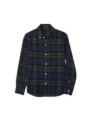 GAP Boys Plaid Button Down Flannel Shirt