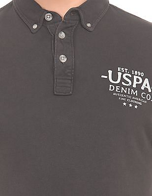 U.S. Polo Assn. Denim Co. Washed Button Down Polo Shirt