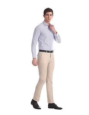Arrow Blue Urban Slim Fit Striped Shirt