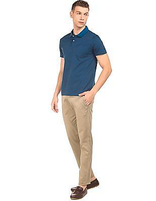 Arrow Sports Slim Fit Printed Trousers