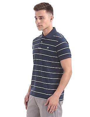 Aeropostale Striped Heathered Polo Shirt