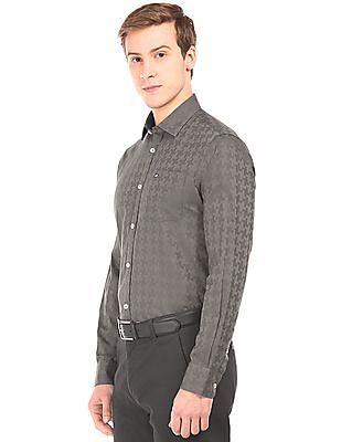 Arrow Sports Patterned Slim Fit Shirt