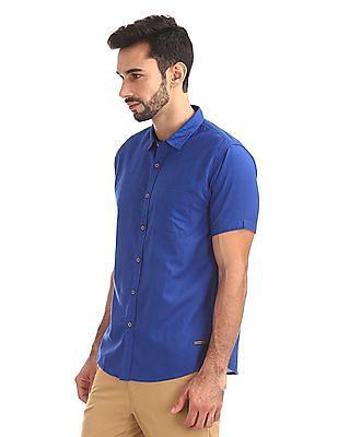 Cherokee Short Sleeve Cotton Linen Shirt
