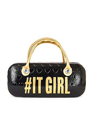 The Children's Place Girls Handle 'It Girl' Heart Print Sunglasses Case