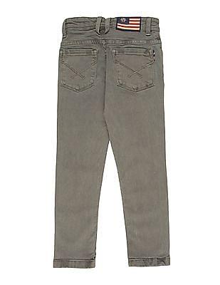 U.S. Polo Assn. Kids Boys Stone Wash Cotton Stretch Jeans