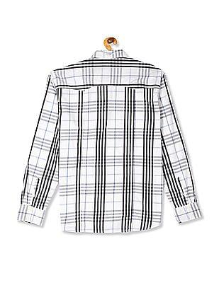 Flying Machine White Flap Pocket Check Shirt