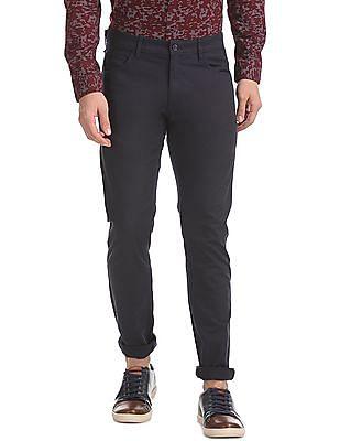 Flying Machine Super Slim Fit Solid Trouser