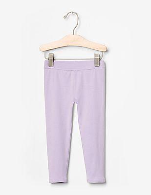 GAP Toddler Girl Purple Classic Leggings