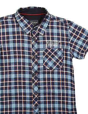 Cherokee Boys Short Sleeve Check Shirt