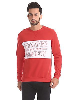 Ed Hardy Slim Fit Colour Block Sweatshirt