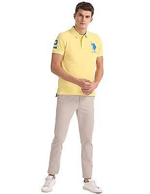 U.S. Polo Assn. Standard Fit Pique Polo Shirt