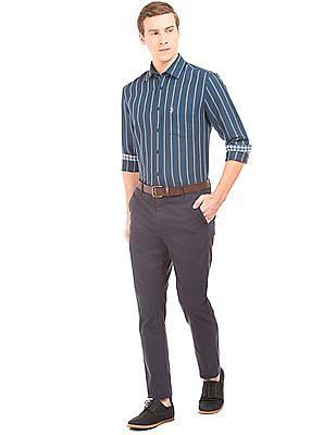 U.S. Polo Assn. Striped Linen Cotton Shirt