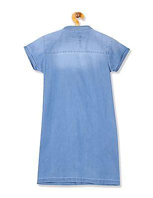 U.S. Polo Assn. Kids Girls Washed Shirt Dress
