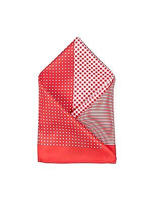 Arrow Red And White Printed Pocket Square
