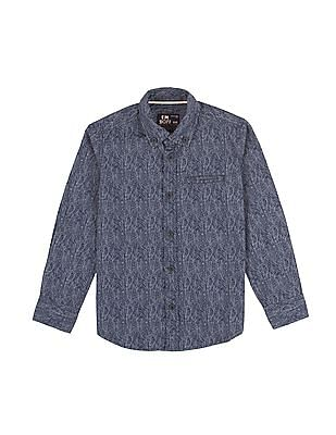 FM Boys Boys Printed Button Down Shirt