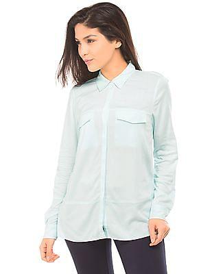 Nautica High Low Hem Knit Shirt
