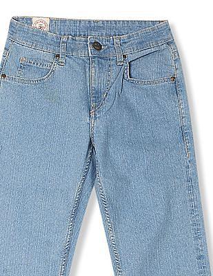 Flying Machine Eddie Slim Straight Fit Washed Jeans