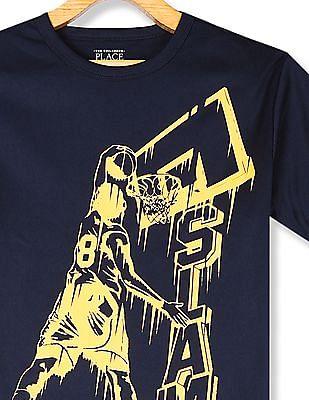 The Children's Place Boys Blue Short Sleeve Graphic T-Shirt