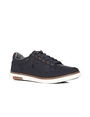 U.S. Polo Assn. Blue Suedette Panel Textured Sneakers