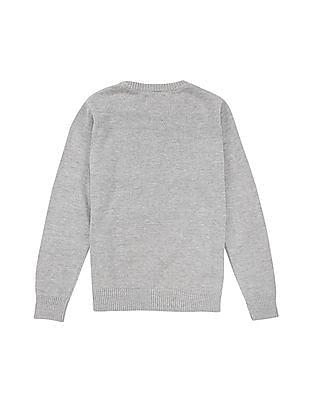 FM Boys Slim Fit Crew Neck Sweater