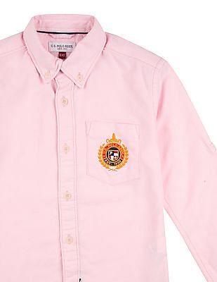 U.S. Polo Assn. Kids Boys Solid Long Sleeved Shirt