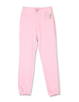 The Children's Place Girls Active Glitter Graphic Jogger Pants