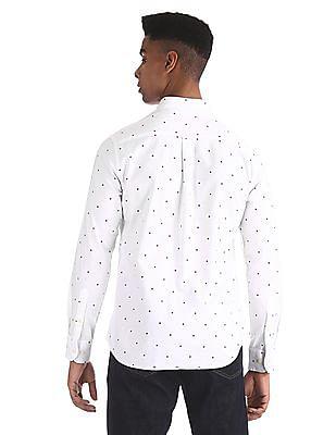 U.S. Polo Assn. White Star Print Button Down Shirt