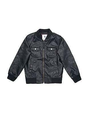 U.S. Polo Assn. Kids Boys Regular Fit Bomber Jacket