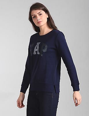 GAP Glitter Logo Crewneck Pullover Sweatshirt