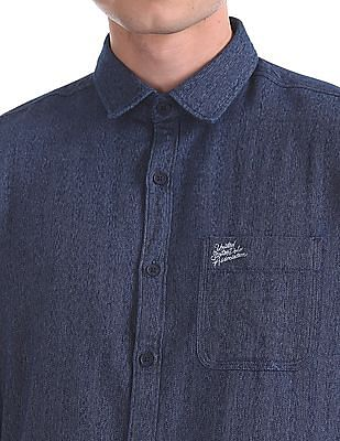 U.S. Polo Assn. Denim Co. Slim Fit Herringbone Shirt