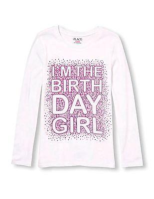 The Children's Place Girls Birthday Girl Print T-Shirt