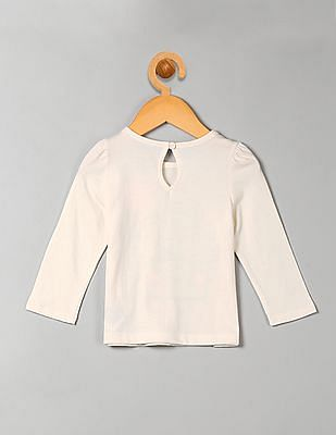 GAP Baby Graphic Keyhole Long Sleeve Tee
